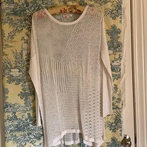 Ella Moss lace sweater tunic Ladies size L